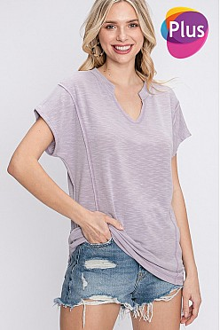 Plus Slouchy short sleeve tee